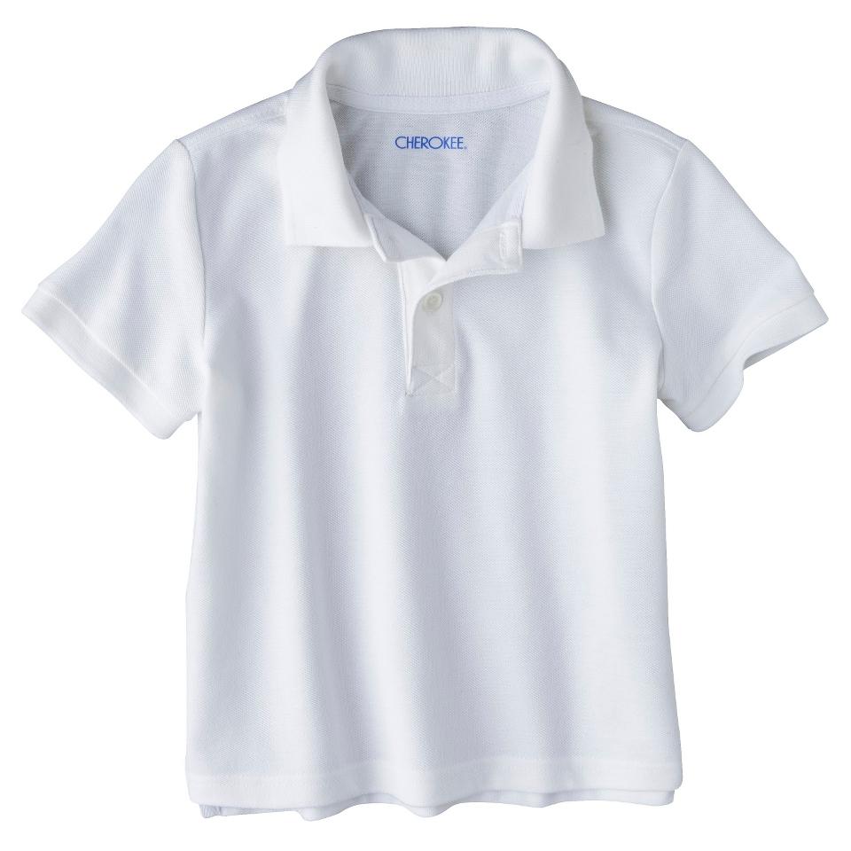 Cherokee Infant Toddler Boys Short Sleeve Polo Shirt   True White 12 M