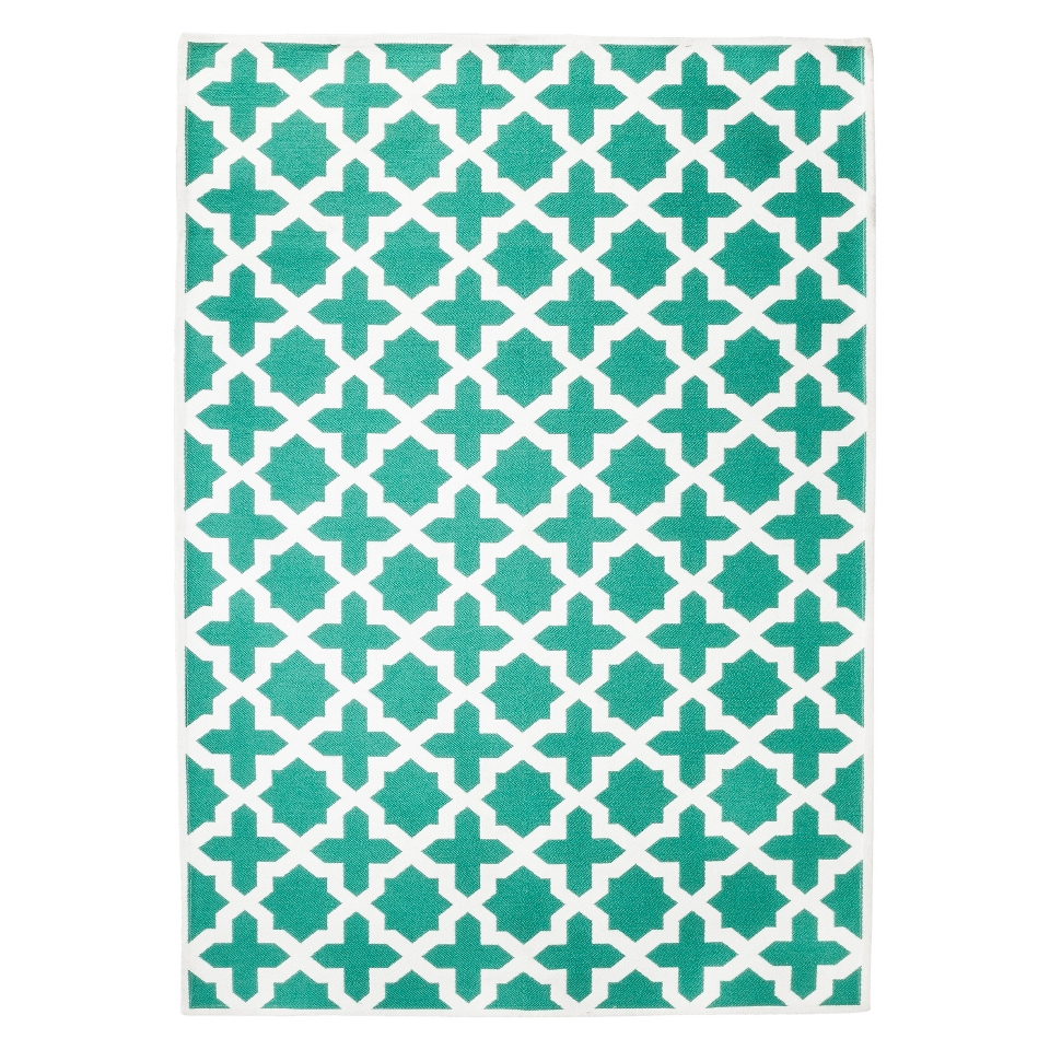 Threshold Indoor/Outdoor Area Rug   Turquoise (7x10)