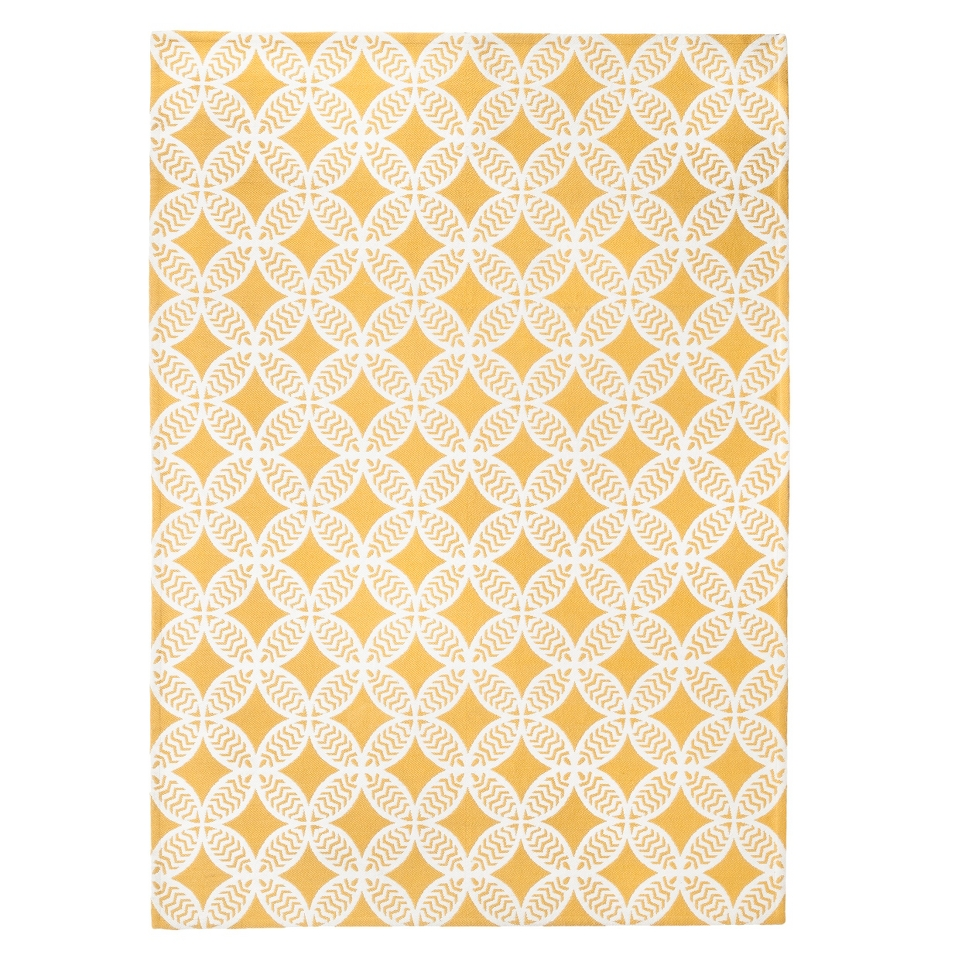 Threshold Indoor/Outdoor Area Rug   Yellow (5x7)