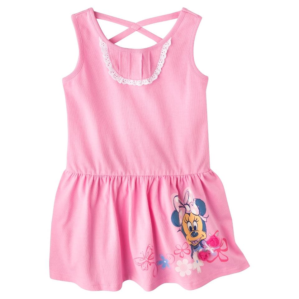 Disney Minnie Mouse Infant Toddler Girls Sleeveless Sun Dress   Pink 5T