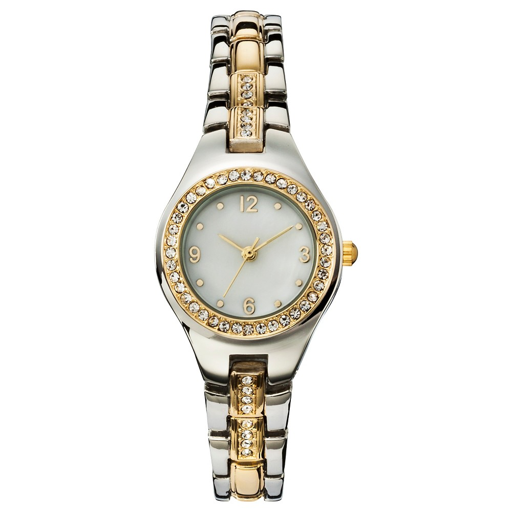 Womens Analog Watch with Two-Tone Metals - Silver & Gold - Merona, Silver/Gold