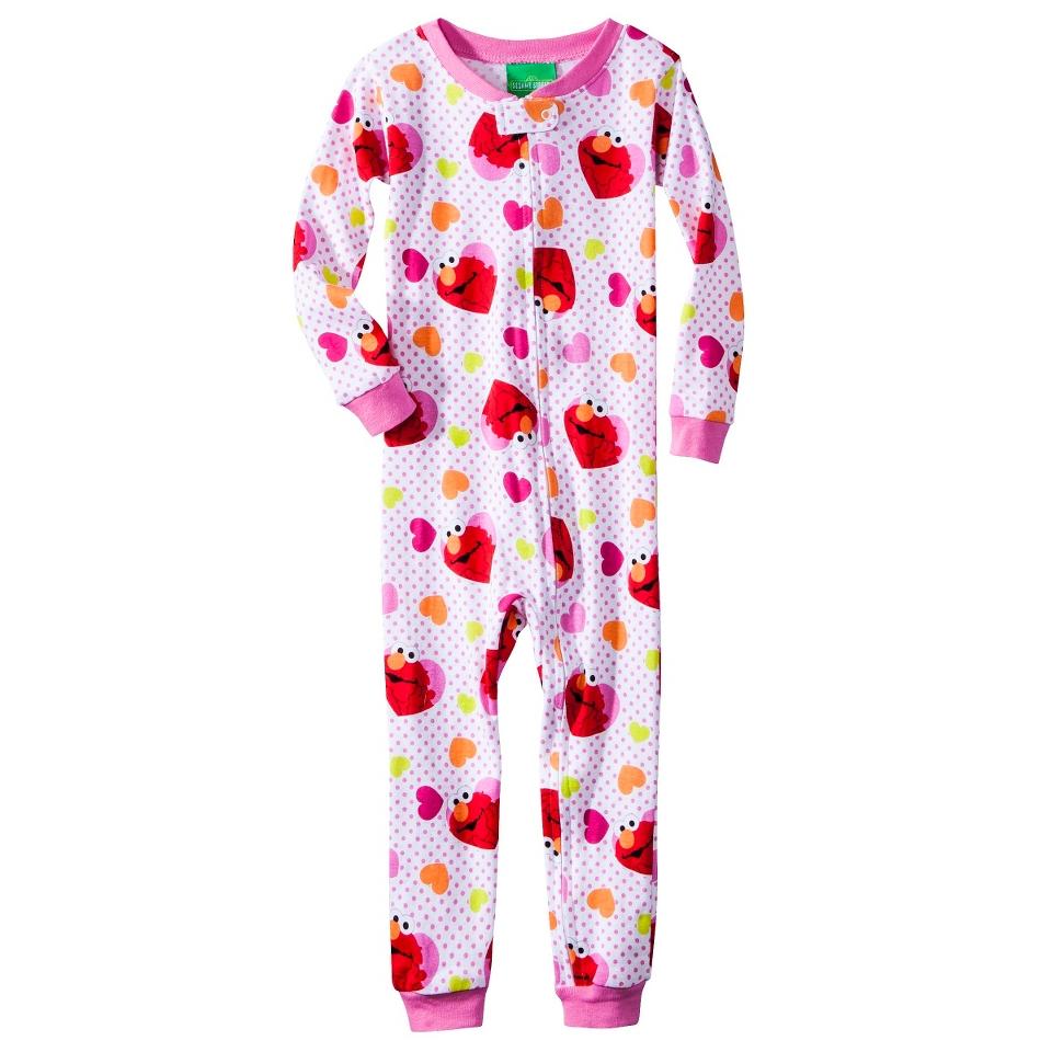 Sesame Street Elmo Infant Toddler Girls Long Sleeve Footed Blanket Sleeper