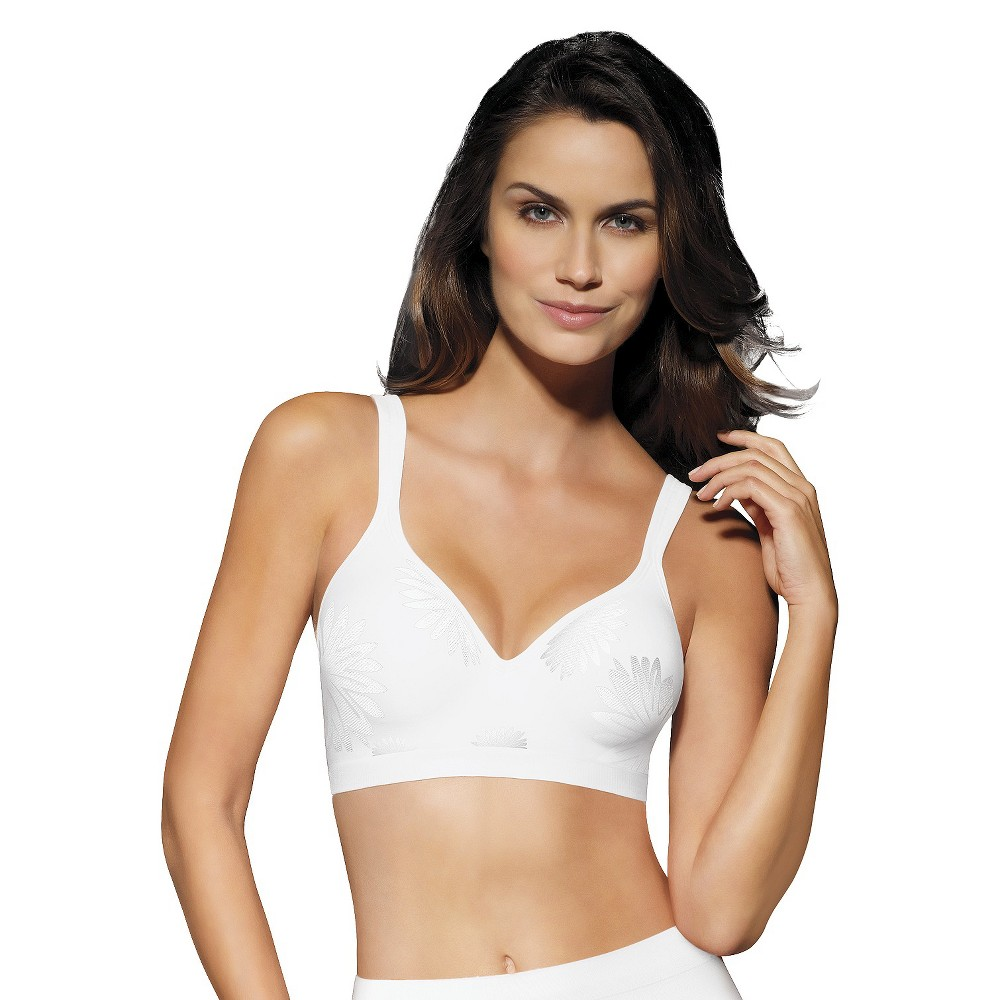 Beauty by Bali Women's T-Shirt Wireless Bra B540 – White 38B