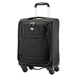"American Tourister 16"" DeLite 2.0 Carry On Spinner Suitcase - Black"