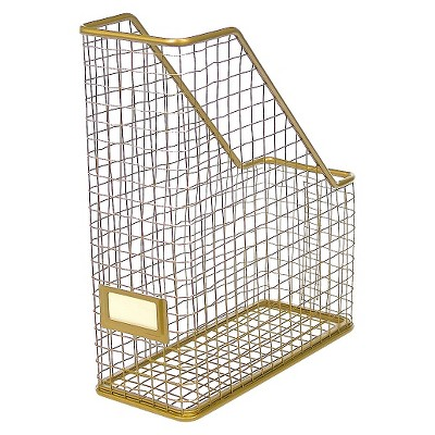 ™ Gold Rustic Wire Magazine Holder - Threshold™