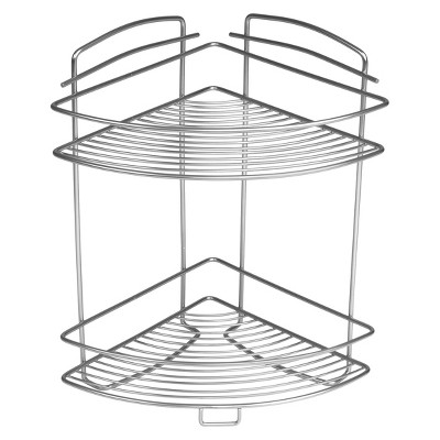 Under Vanity 2 Tier Storage Rack Silver Smartworks