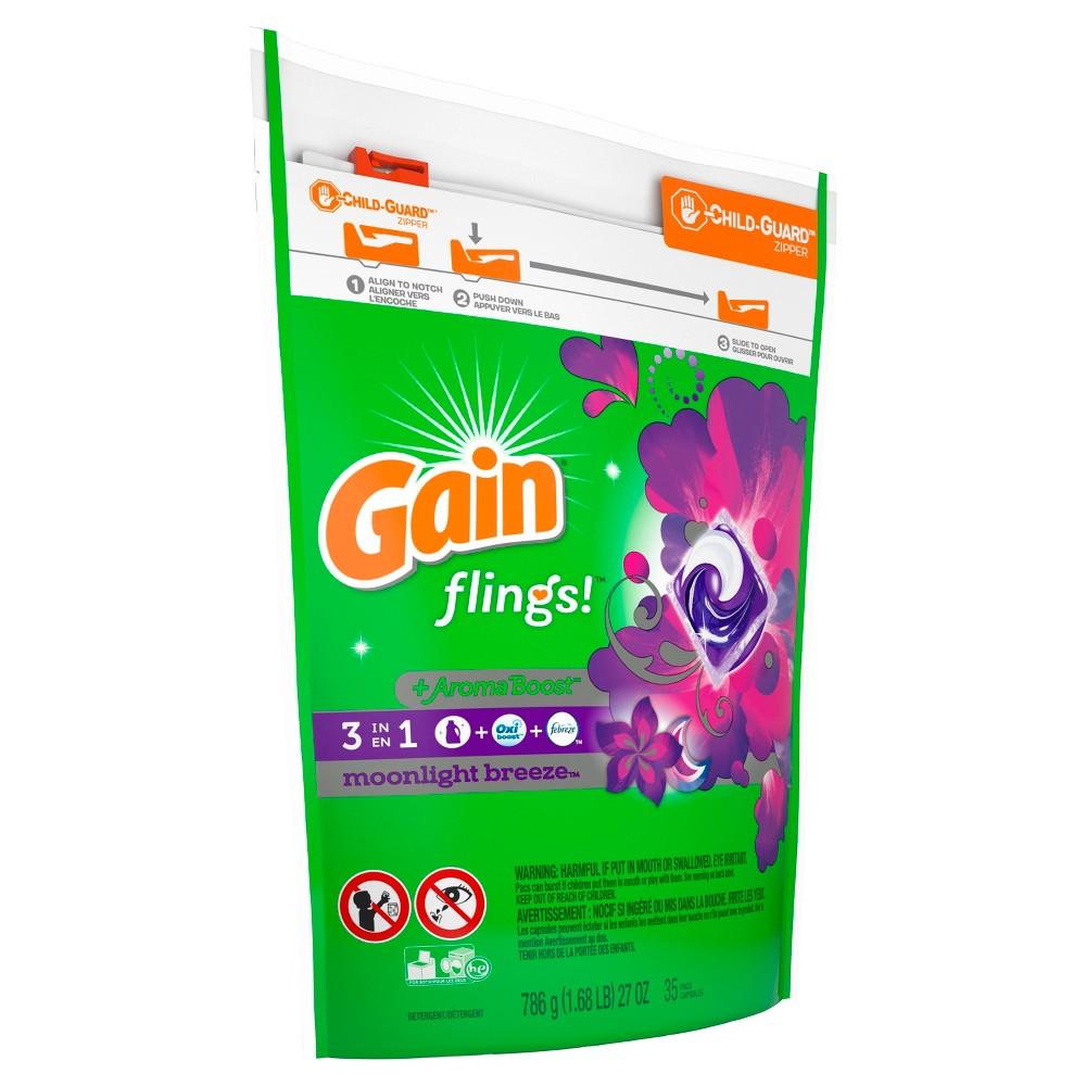 Gain Flings Moonlight Breeze Laundry Detergent Pacs 35 ct