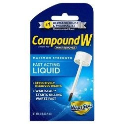 Compound W® Maximum Strength Fast-Acting Liquid Wart Remover - 0.31 oz
