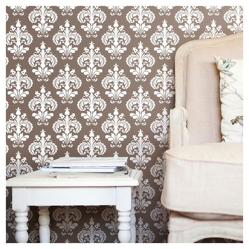 Devine Color Chantilly Peel & Stick Wallpaper - Buck - image 1 of 11