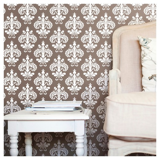 Devine Color Chantilly Peel & Stick Wallpaper - Buck : Target