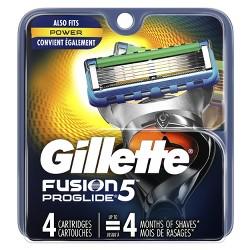 Gillette Fusion5 ProGlide Men's Razor Blade Refills - 4ct