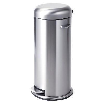 30 Liter Metal Step Trash Can - Stainless Steel - Threshold™