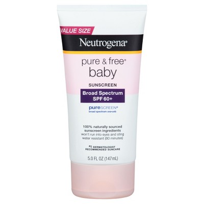 Neutrogena® Pure & Free Baby Sunscreen Lotion Broad Spectrum SPF 60+ - 5 fl oz