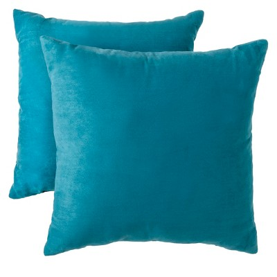 Teal Suede Throw Pillow 2 Pack (18 x18 )- Room Essentials™