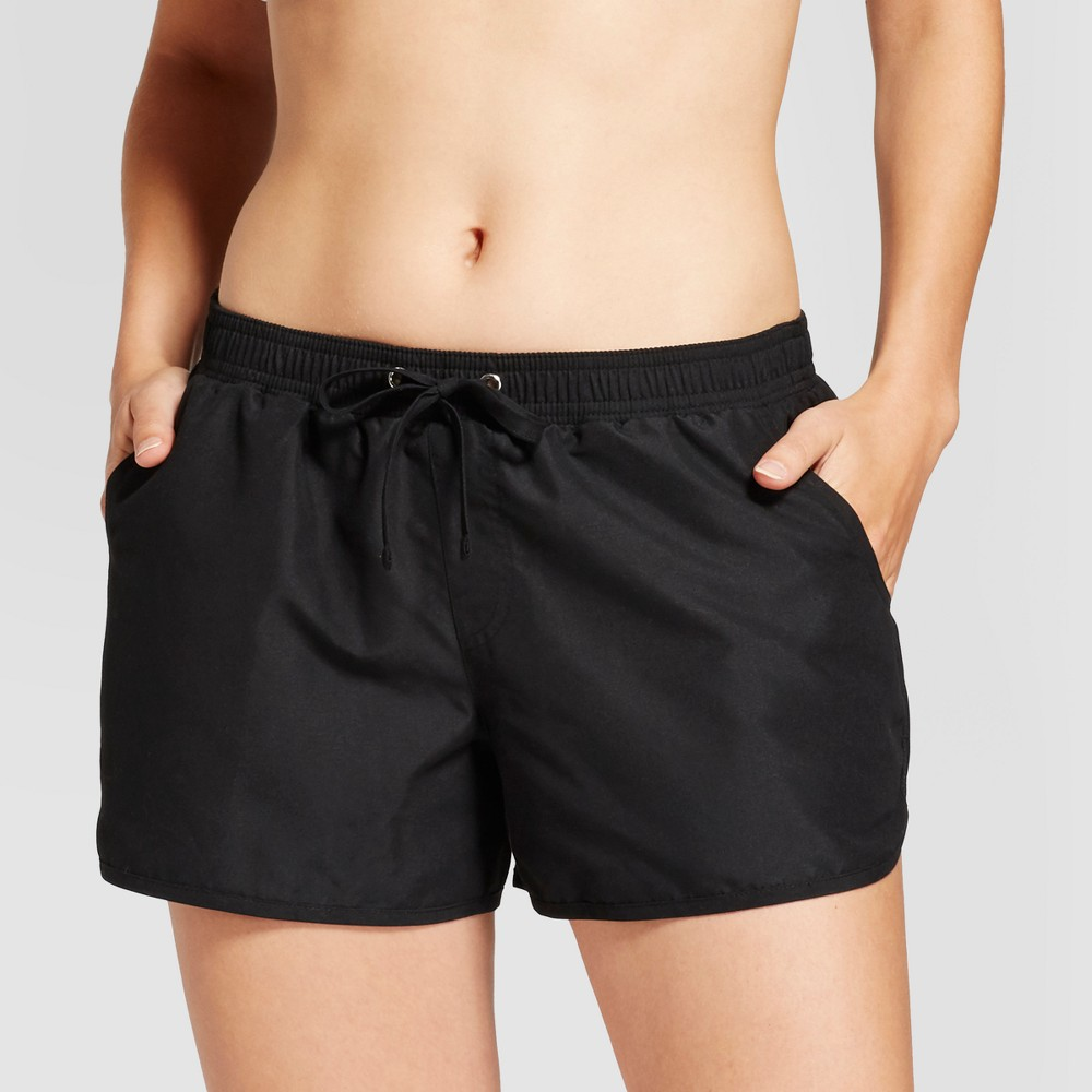 Womens Suplex Swim Shorts - Black - XL - Merona