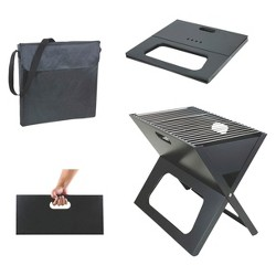 Picnic Time X Grill - Portable Charcoal Grill with Tote