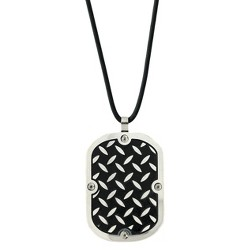 Men's Stainless Steel Plated Dog Tag Pendant