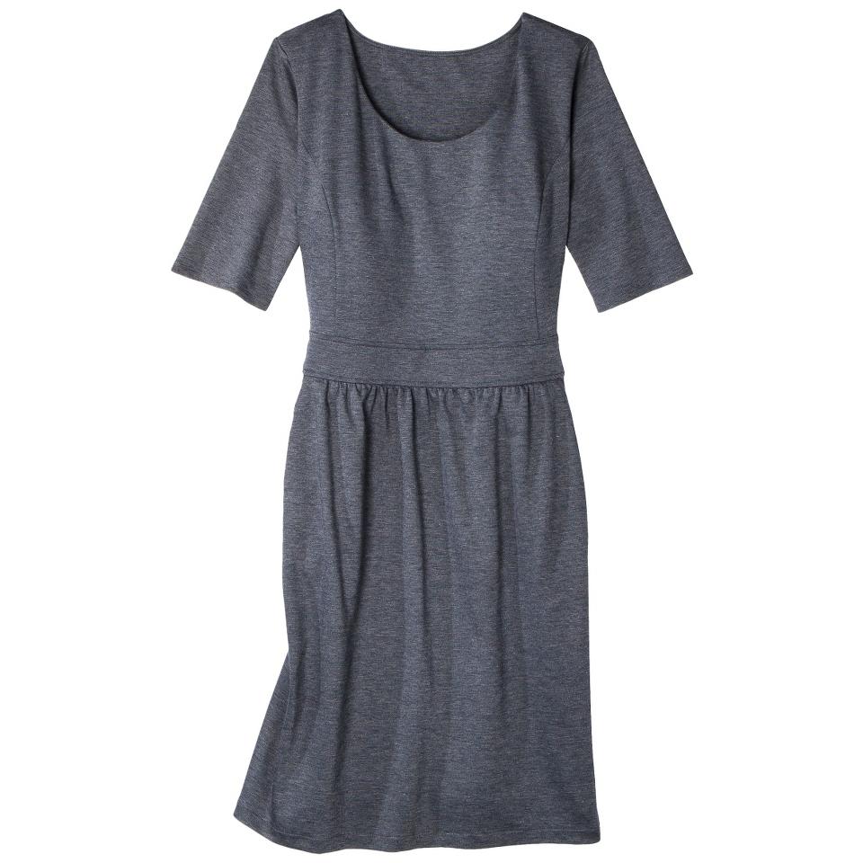 Merona Womens Plus Size Elbow Sleeve Ponte Dress   Gray 2