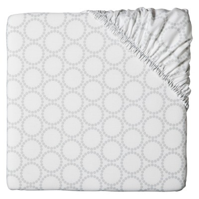 Circo™ Woven Fitted Crib Sheet - Gray Medallion