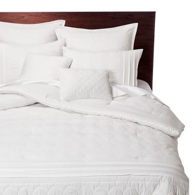 Colette 8 Piece Comforter Set - White (Queen)