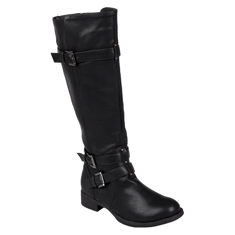 Womens Journee Collection Tall Buckle Boots - Black 6