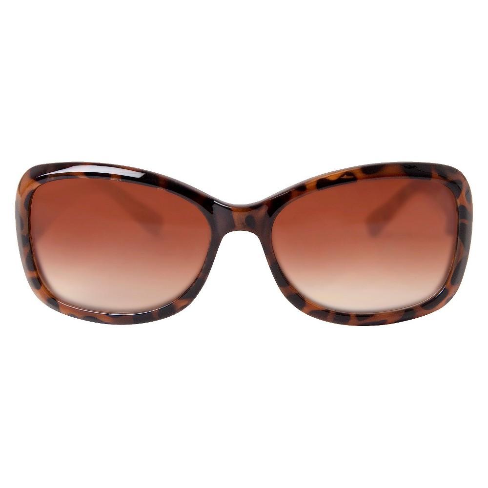 Womens Rectangle Sunglasses- Tokyo Tortoise, Brown