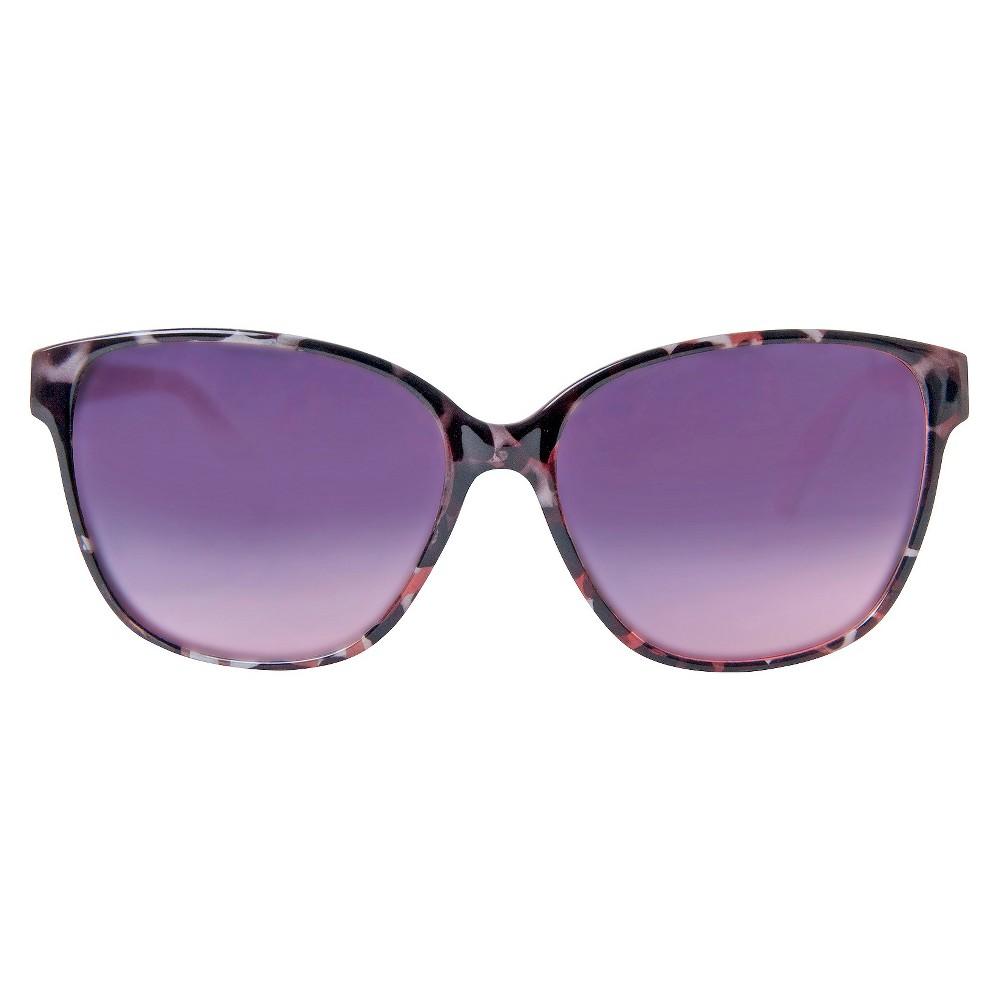 Womens Cateye Sunglasses- White Tortoise, Black