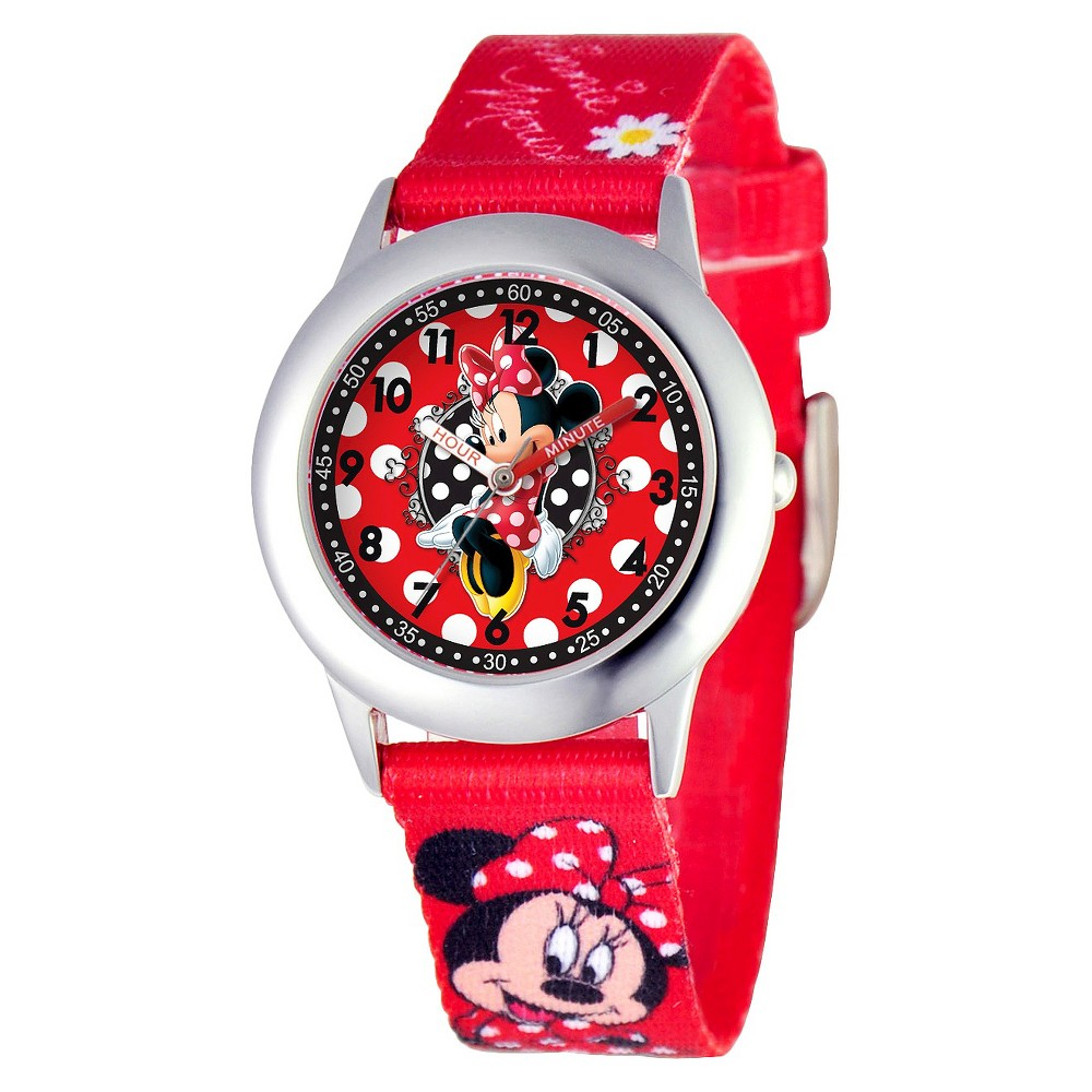 Kids Disney Minnie Watch - Red, Girls