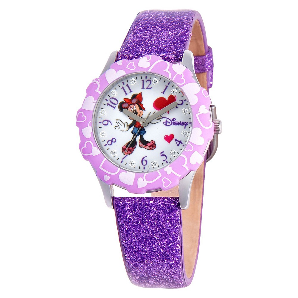 Glitz Disney Minnie Watch - Purple, Girl's