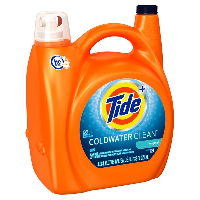 Tide Coldwater High Efficiency Liquid Laundry Detergent - 138 oz