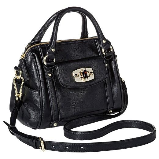Women's Mini Satchel Faux Leather Handbag with Removable Crossbody ...