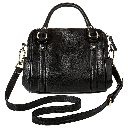 Women's Mini Satchel Faux Leather Handbag with Removable Crossbody ...