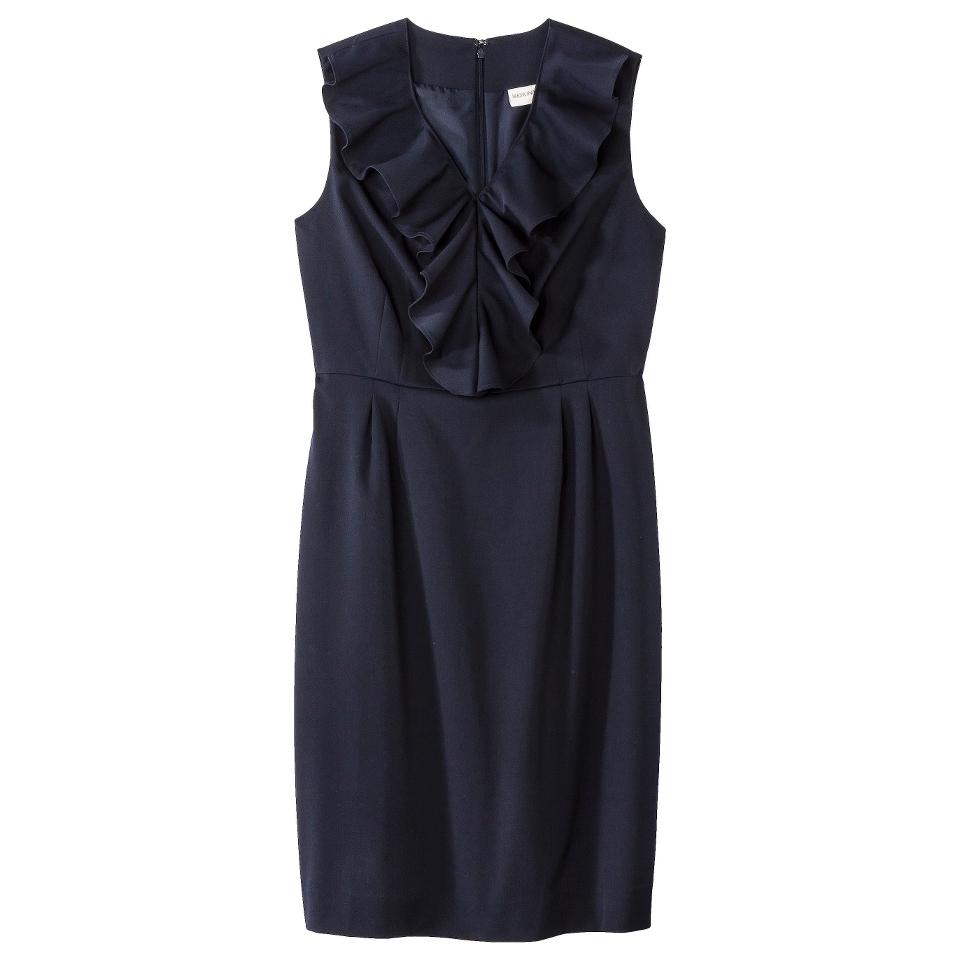 Merona Petites Sleeveless Sheath Dress   Blue 12P