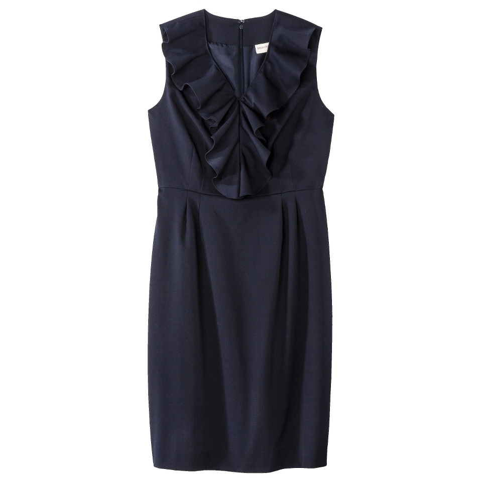 Merona Petites Sleeveless Sheath Dress   Blue 18P