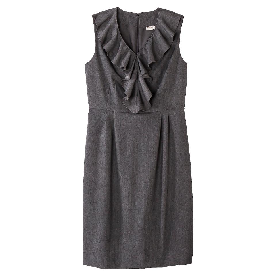 Merona Petites Sleeveless Sheath Dress   Gray 4P