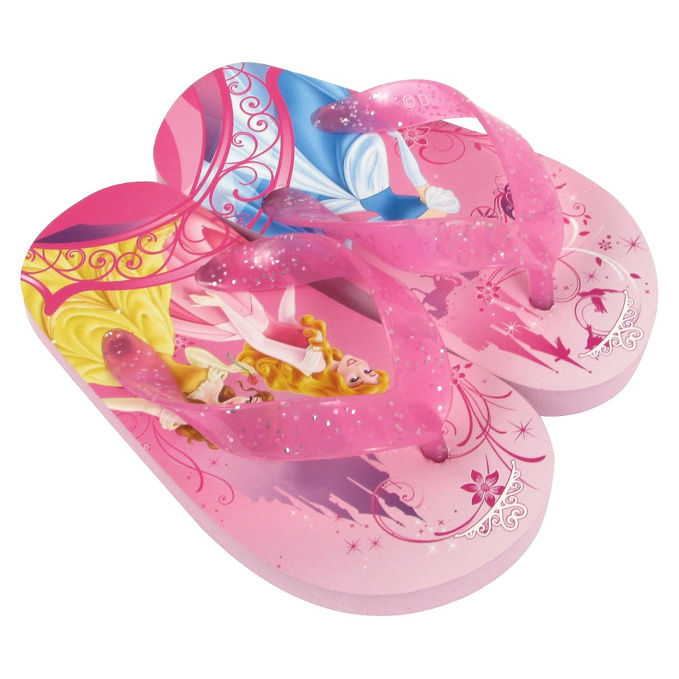 Toddler Girls Disney Princesses Flip Flop Sandals   Pink 11