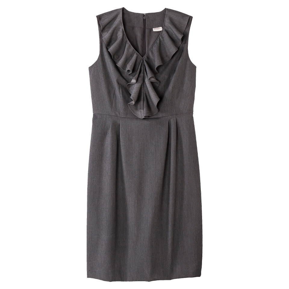 Merona Petites Sleeveless Sheath Dress   Gray 18P