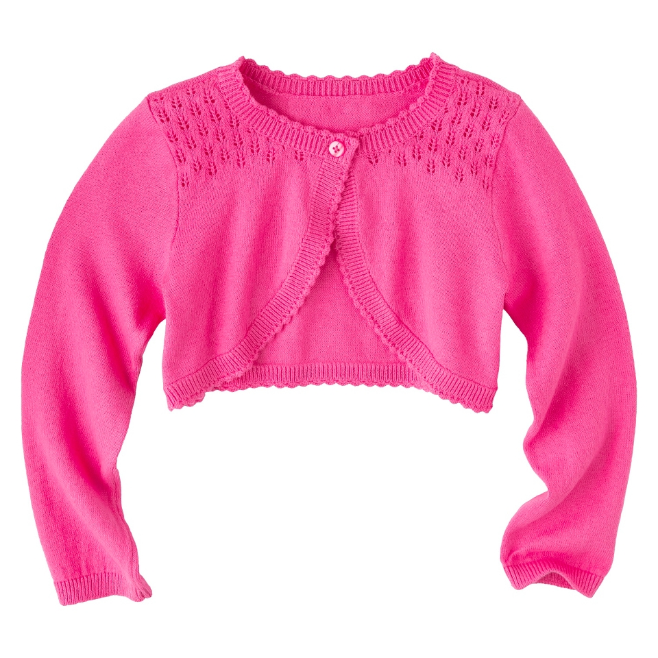 Infant Toddler Girls Long Sleeve Cardigan   Pink 3T