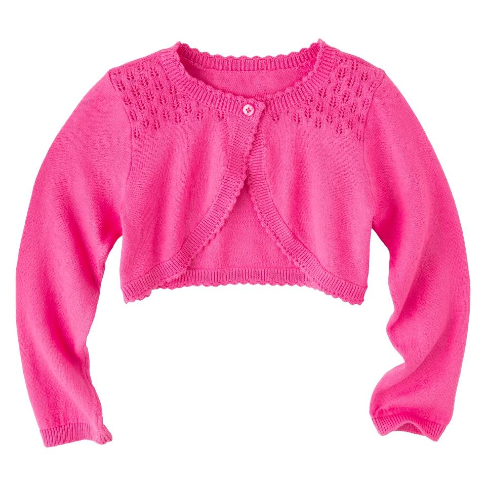 Infant Toddler Girls Long Sleeve Cardigan   Pink 2T