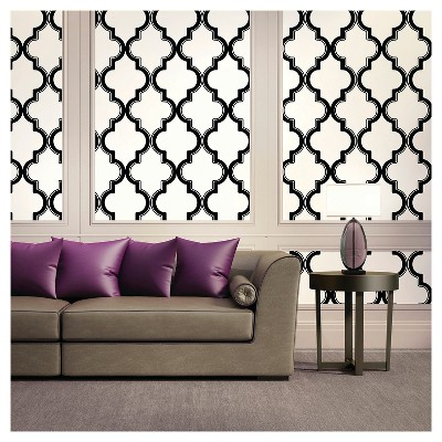 Devine Color Cable Stitch Peel & Stick Wallpaper - Black & White