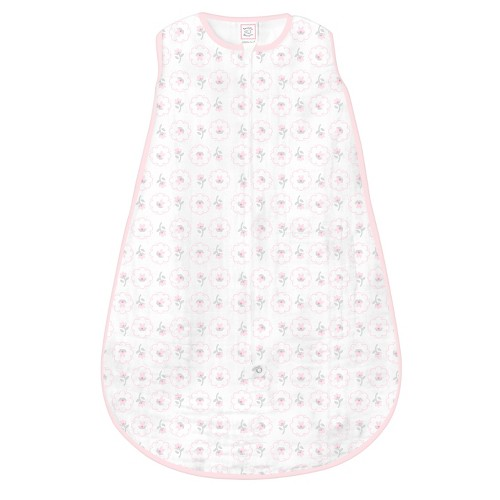 SwaddleDesigns Muslin zzZipMe Sack - Posies - 3-6 M, Infant Girl's, Pink