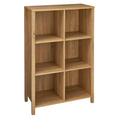 ClosetMaid Decorative 6-Cube Organizer with Adjustable Shelves - Weathered Oak