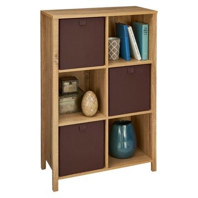 ClosetMaid Decorative 6 Cube Organizer With Adjustable Shelves
