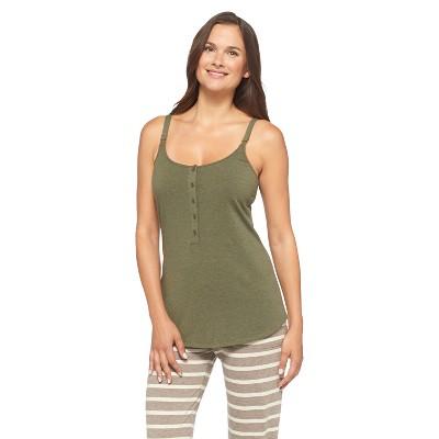 Women's Nursing Henley Cami Army Green - Gilligan & O'Malley®