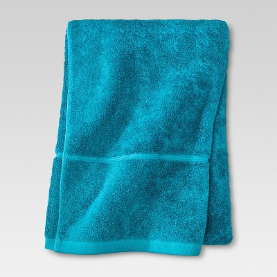 Botanic Solid Bath Sheet Monte Carlo Turquoise - Threshold™