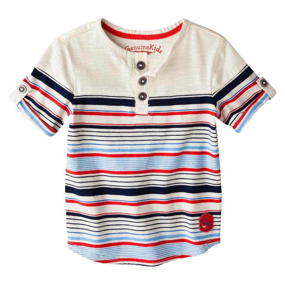 Genuine Kids from OshKosh Infant Toddler Boys Short Sleeve Striped Henley Tee