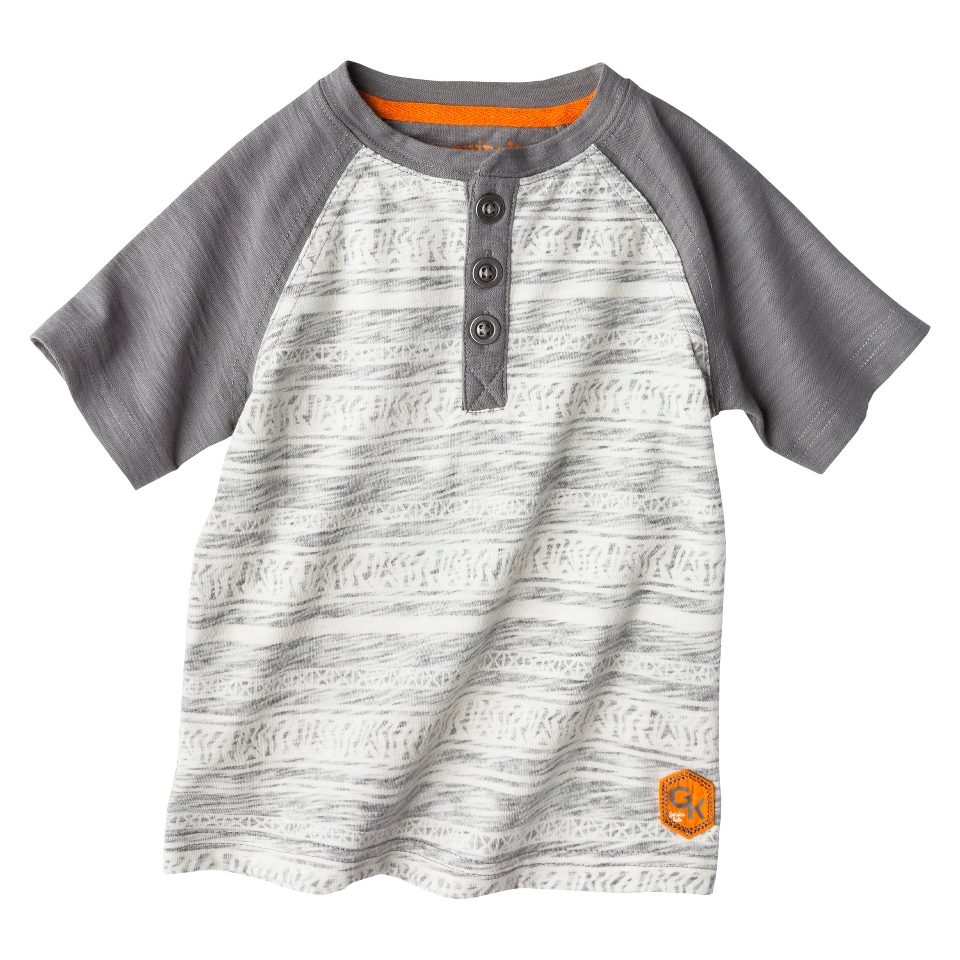 Genuine Kids from OshKosh Infant Toddler Boys Short Sleeve Henley Tee   Cove