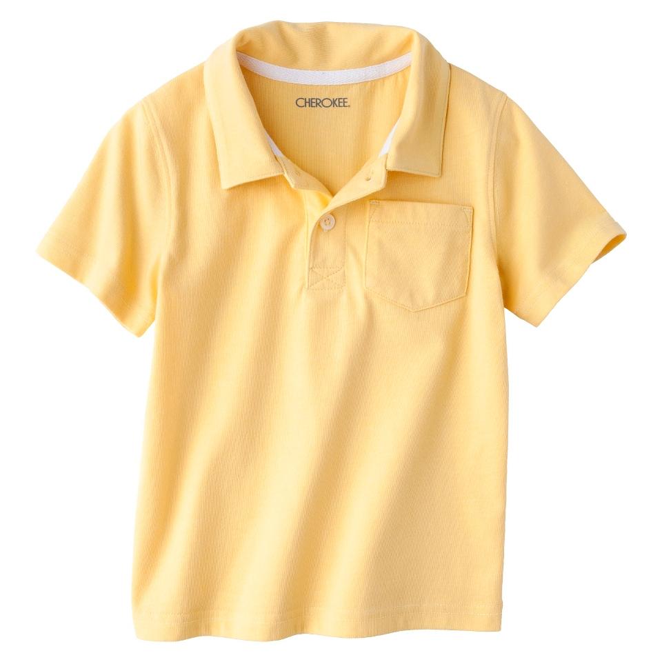 Cherokee Infant Toddler Boys Short Sleeve Polo Shirt   Yellow 18 M