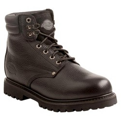 Dickies® Men's Raider Leather Steel Toe Work Boots - Black