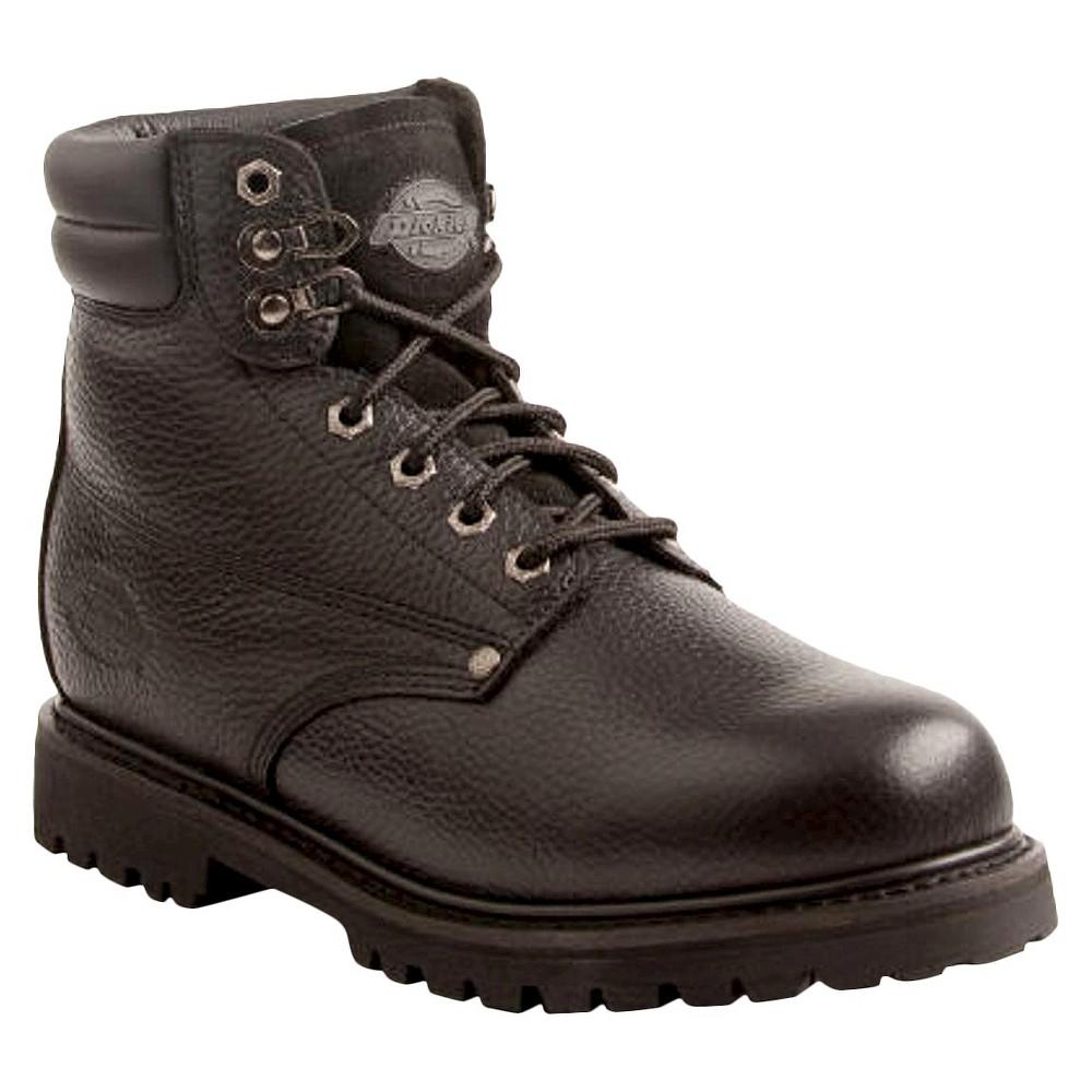 Mens Dickies Raider Genuine Leather Steel Toe Work Boots - Black 10.5